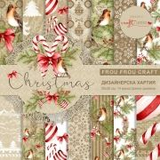 "Design paper Merry Christmas 12""x12"""