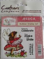 Rubber stamp - Jessica  - 100x100 mm
