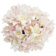 Хартиени цветя, 5 бр. - LIGHT PINK MULBERRY PAPER LILY FLOWERS MKX-136