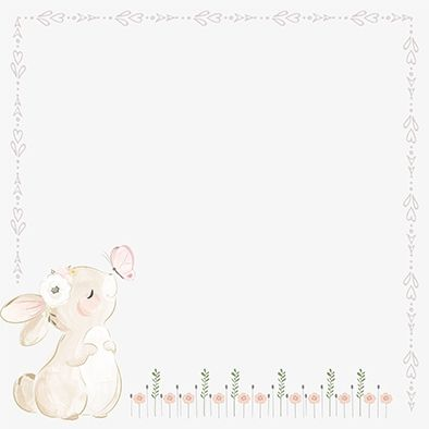 Design Paper Cute Little Bunny 30x30 - CREA2001-06