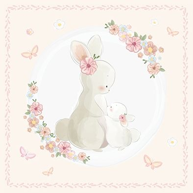 Design Paper Cute Little Bunny 30x30 - CREA2001-05