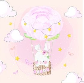 Design Paper Cute Little Bunny 30x30 - CREA2001-02